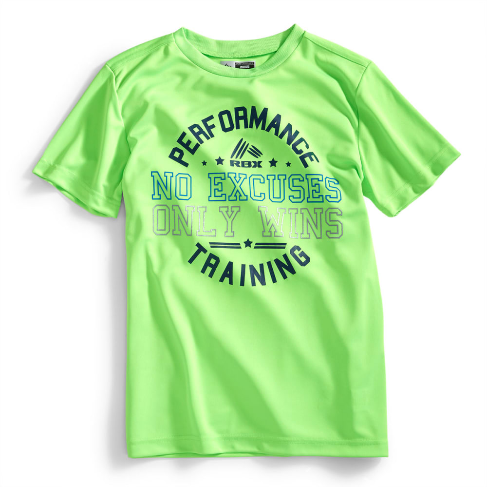RBX Boys' No Excuses Graphic Short-Sleeve Tee - EQT GREEN