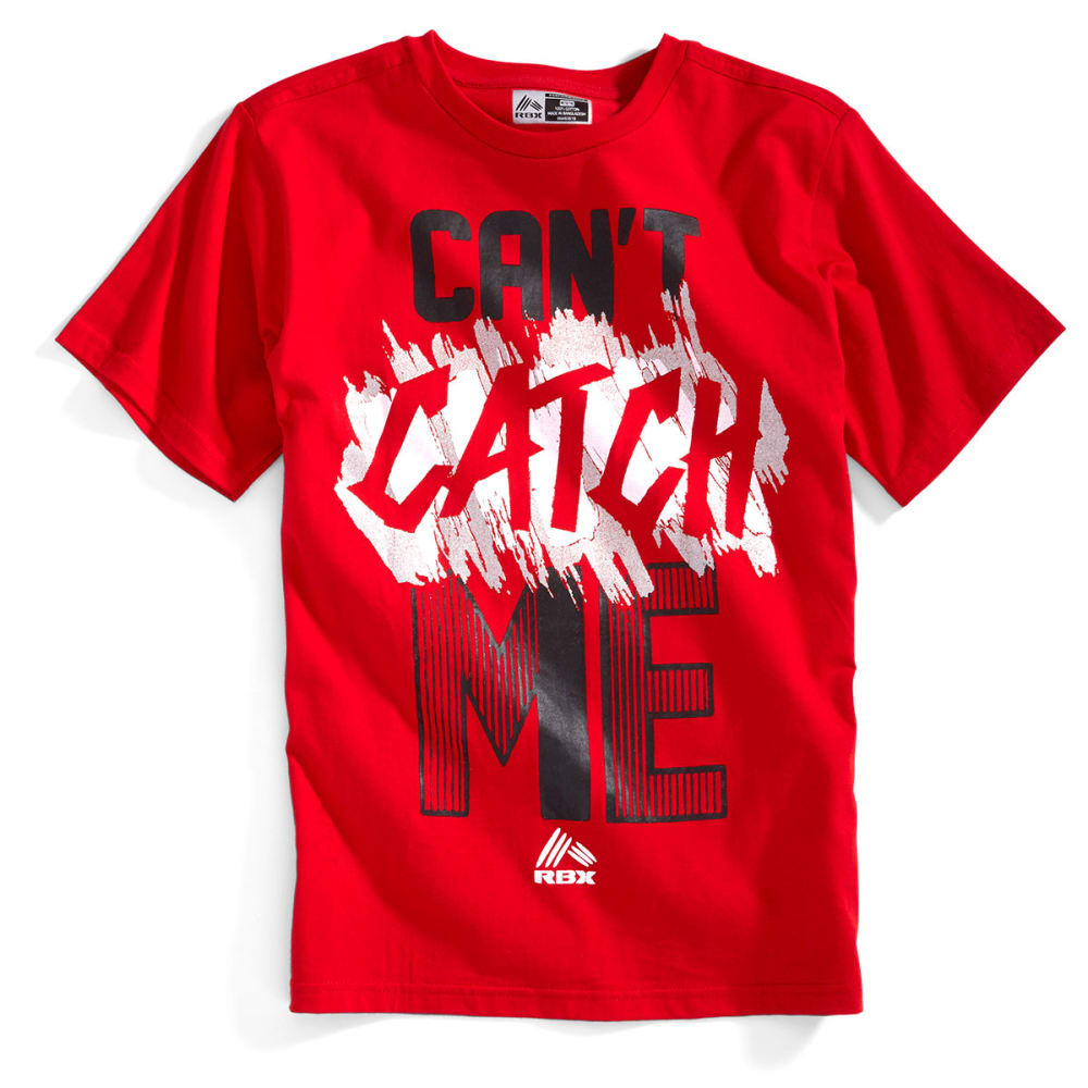 RBX Boys' Can't Catch Me Graphic Short-Sleeve Tee - RED