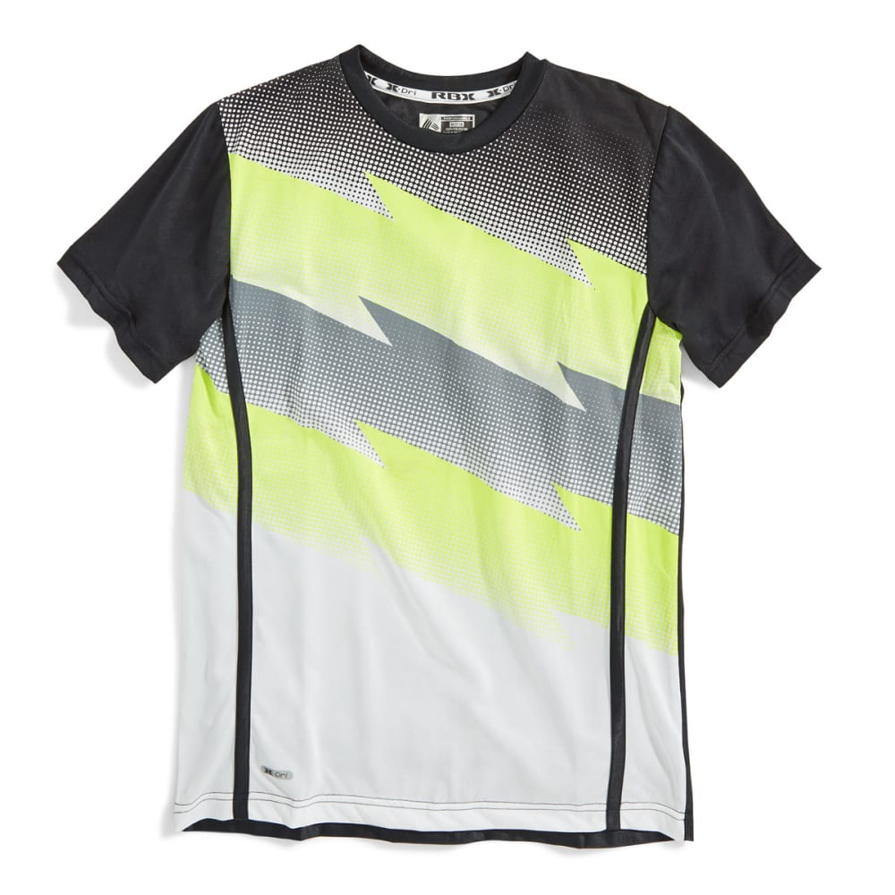 RBX Boys' Lightning Bolt Screen Print Tee - WHITE