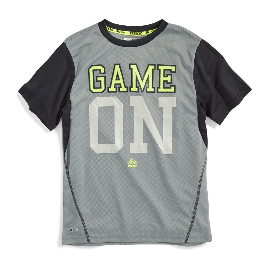 RBX Boys' Game On Screen Print Tee - GREY