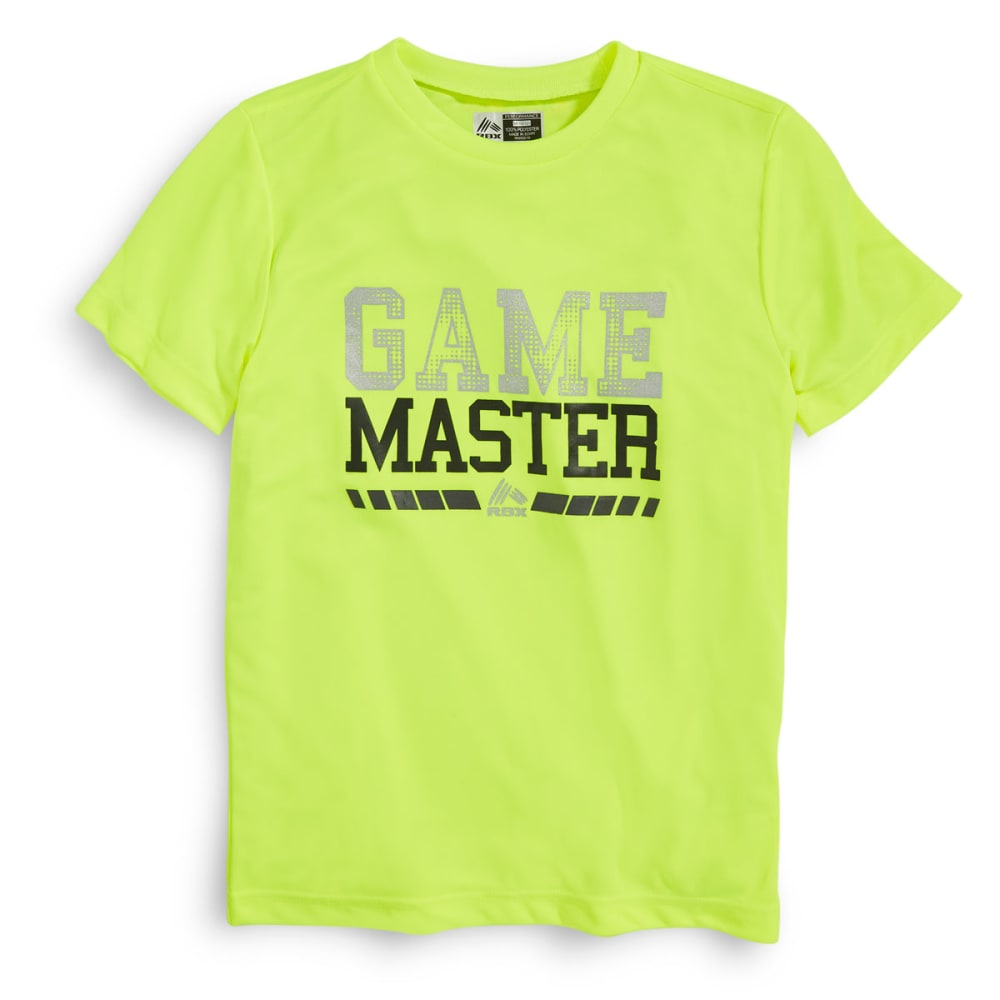 RBX Boys' Game Master Tee - NEON YELLOW