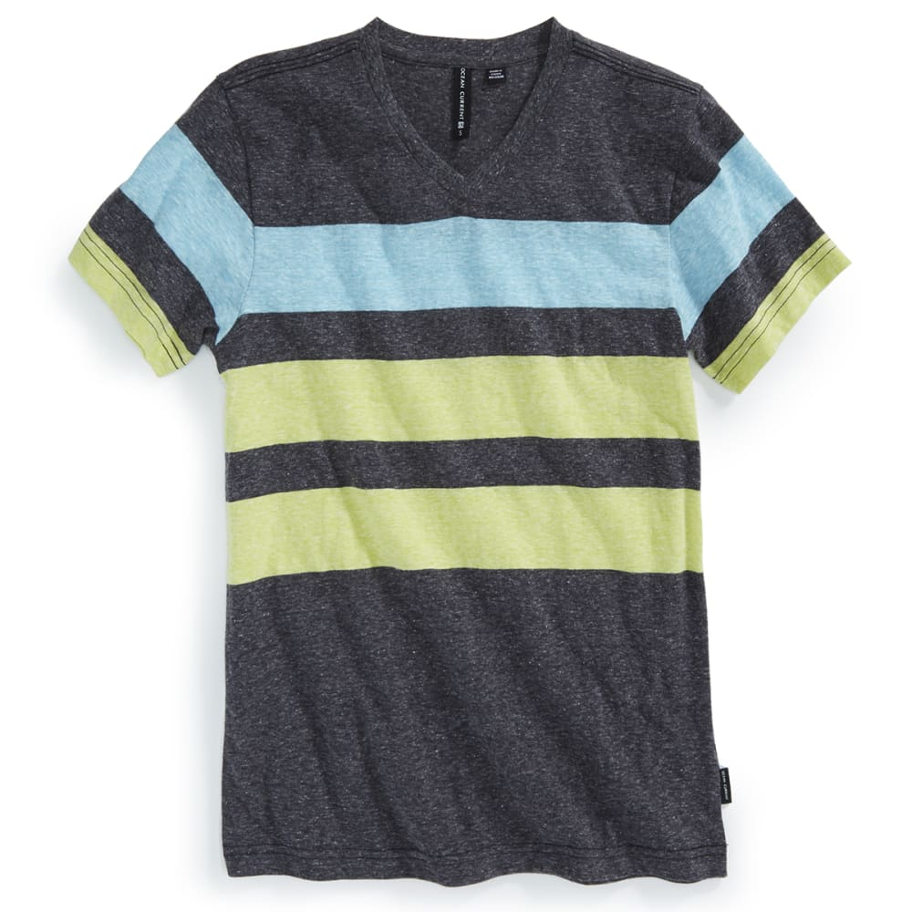 OCEAN CURRENT Boys' Adams Stripe V-Neck Tee - LIMEADE