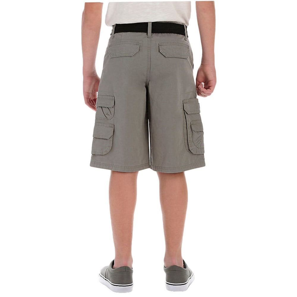 LEE Boys' Wyoming Solid Cargo Shorts - PEWTER-0709