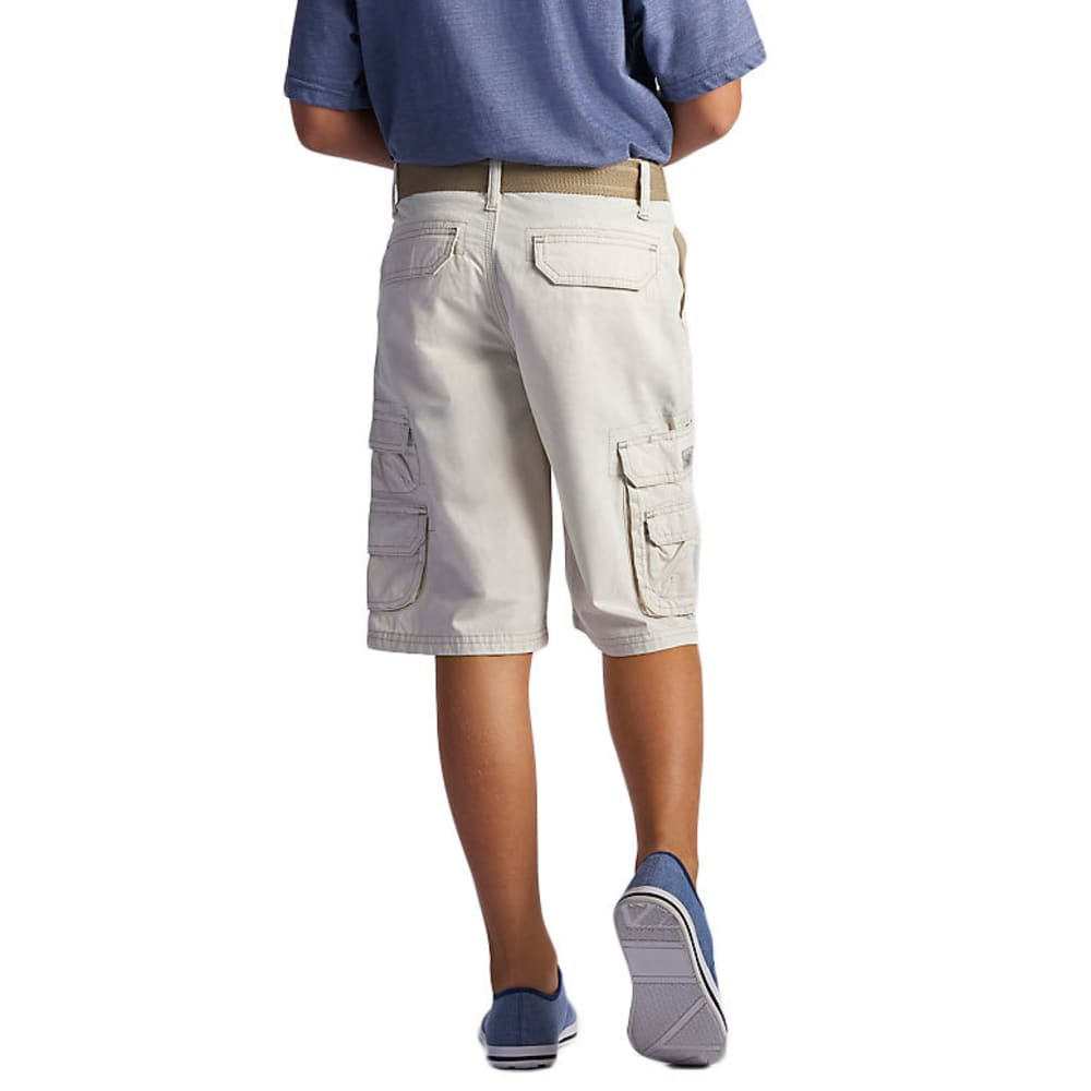 LEE Boys' Wyoming Solid Cargo Shorts - ROCKSALT-0696