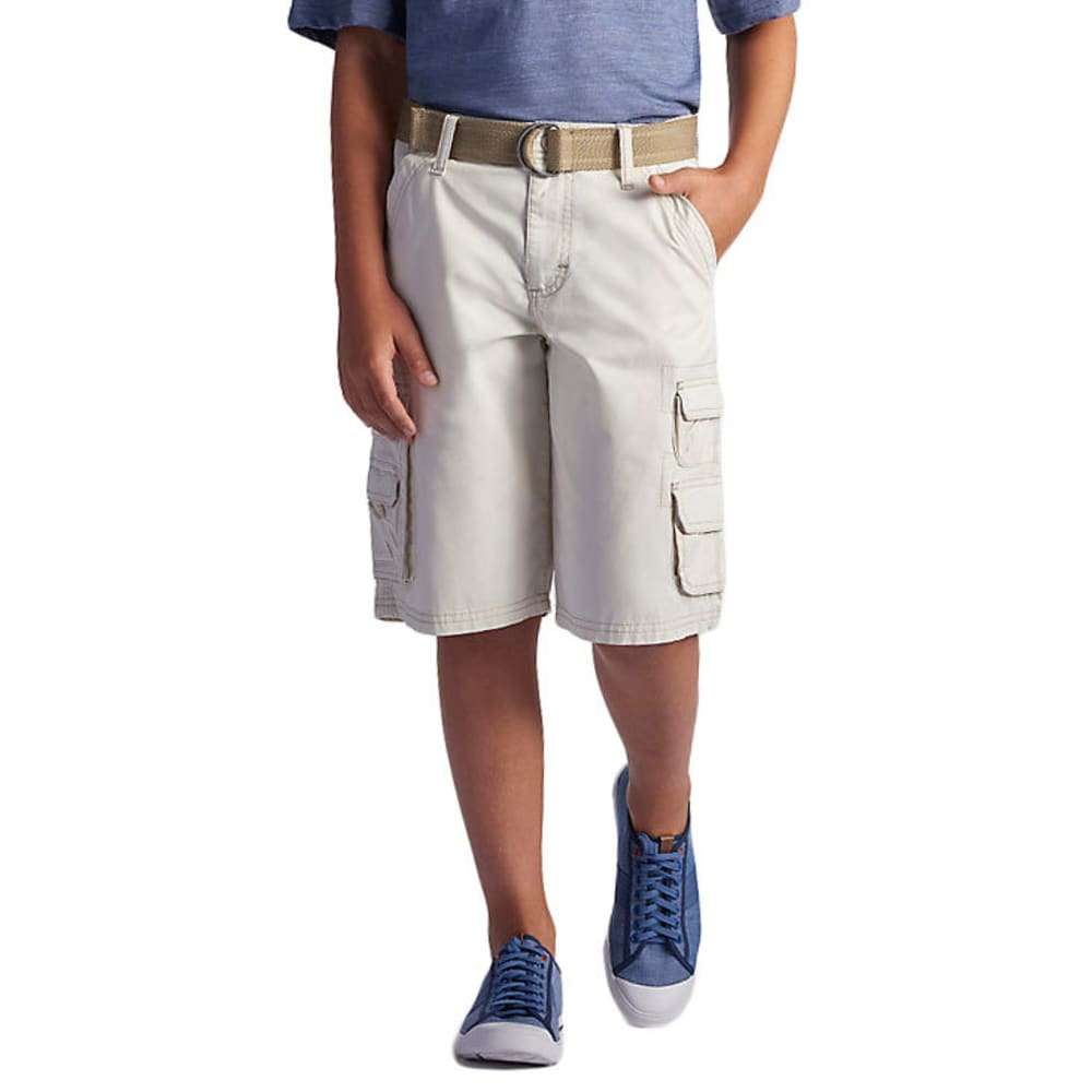 LEE Boys' Wyoming Solid Cargo Shorts - ROCKSALT-0696