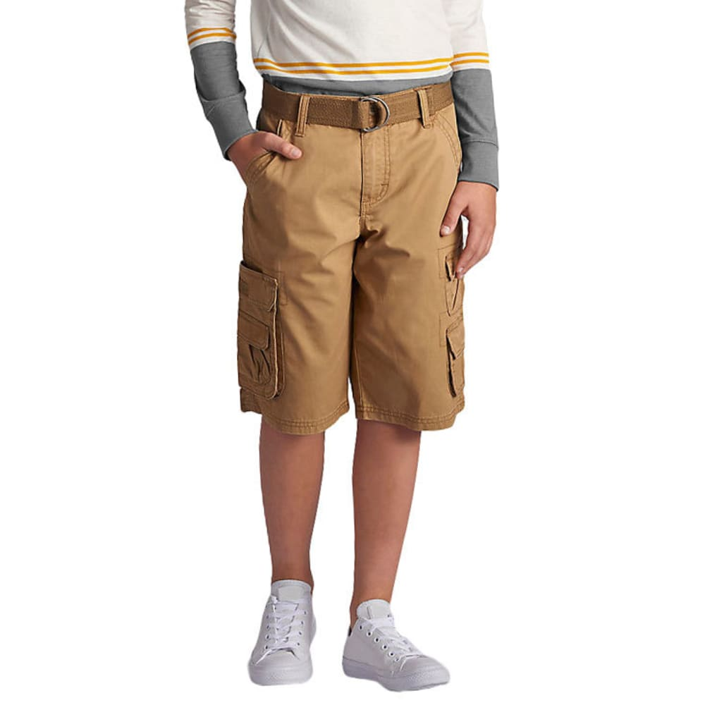 LEE Boys' Wyoming Solid Cargo Shorts - BOURBON-0744