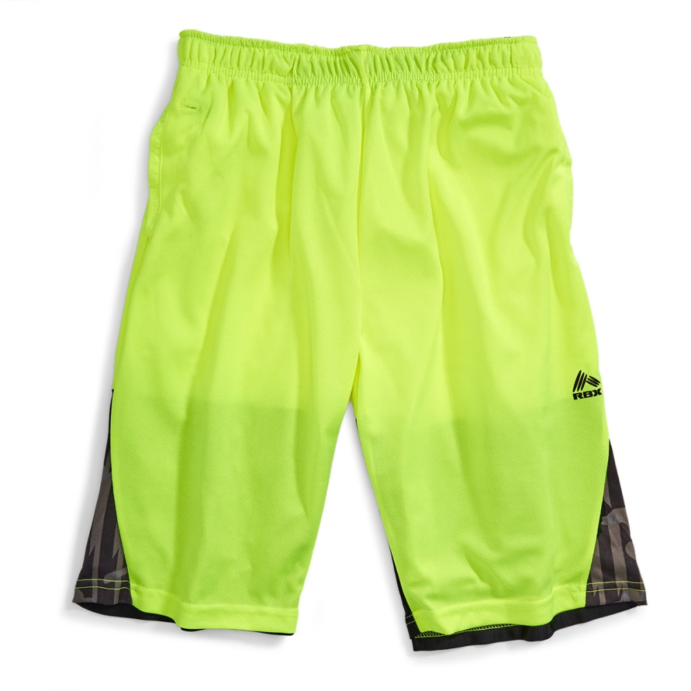 RBX Boys' Game Master Mesh Basketball Shorts - YELLOW