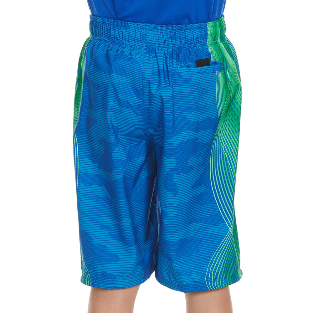 NIKE Boys' 9 in. Camo-Tion Wave Volley Shorts - LIGHT PHOTO BLUE-436