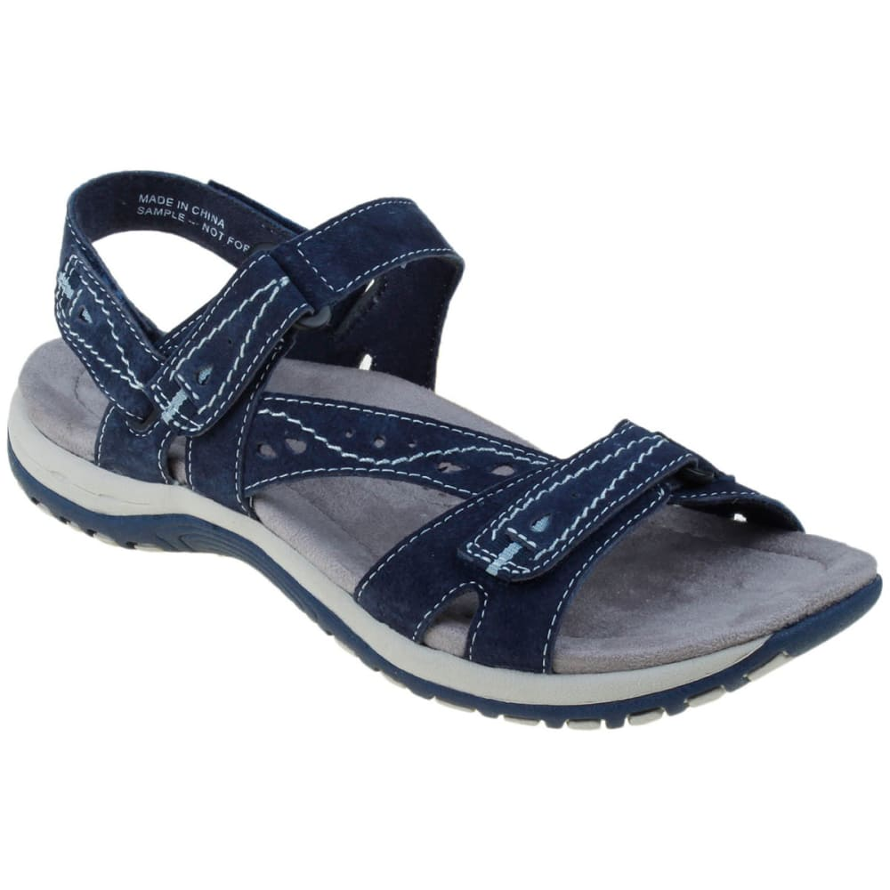 Earth Origins Women's Sophie Sandals, Wide - Blue, 10