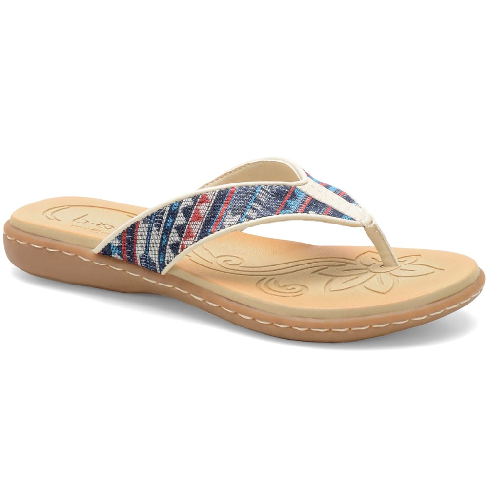 B.O.C. Women's Zeva Flip Flop Sandals - SAND/OFF WHITE