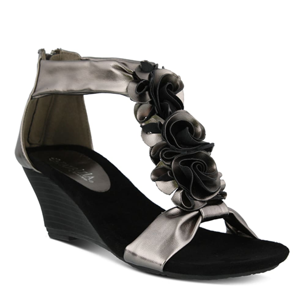 PATRIZIA Women's Harlequin Flower Wedge - PEWTER
