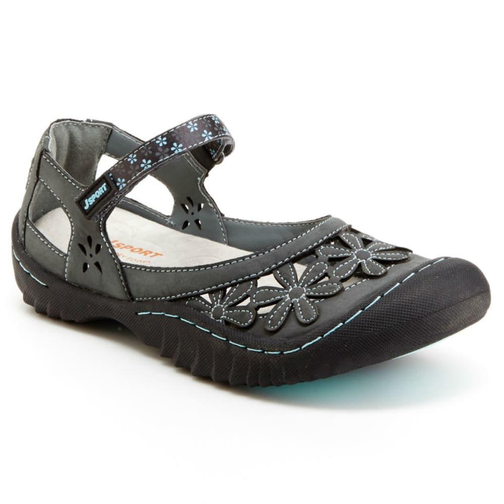 JSPORT Women's Peony Mary Jane Sandals - CHARCOAL