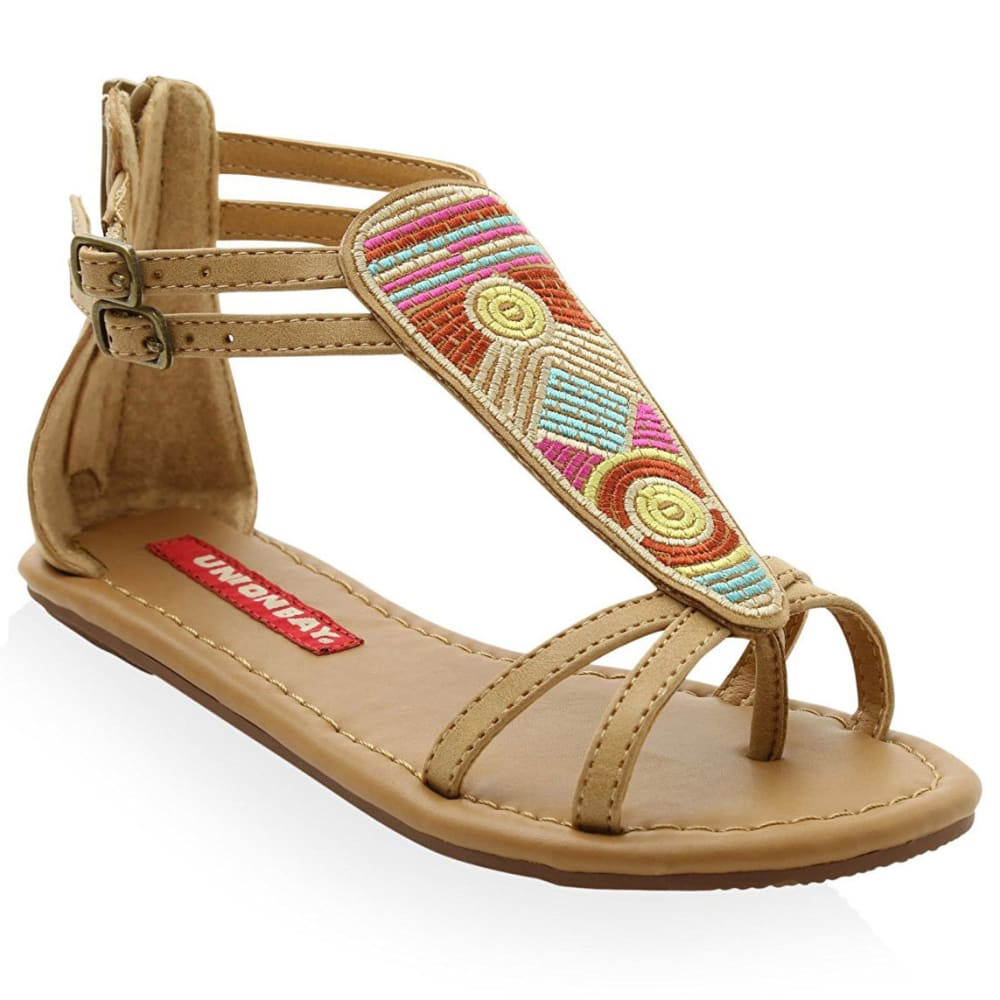 UNIONBAY Girls' Gladiator Sandals - BEIGE/TAN