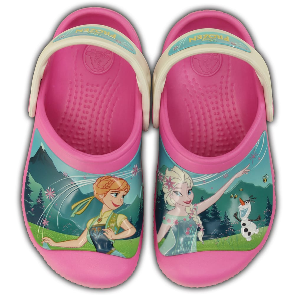 CROCS Girls' Creative Crocs Frozen Frenzy Clog - PINK