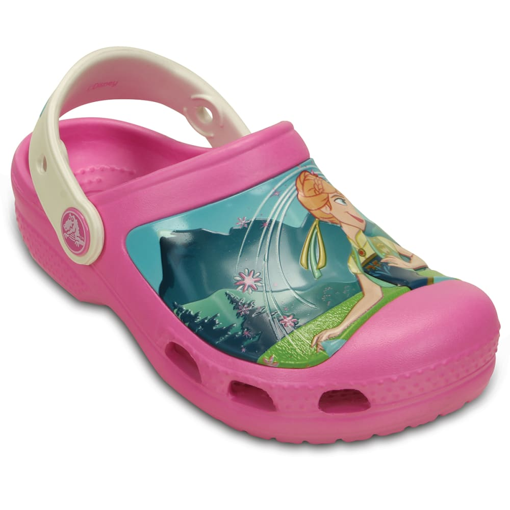 Crocs Girls Creative Crocs Frozen Frenzy Clog - Red, 12/13