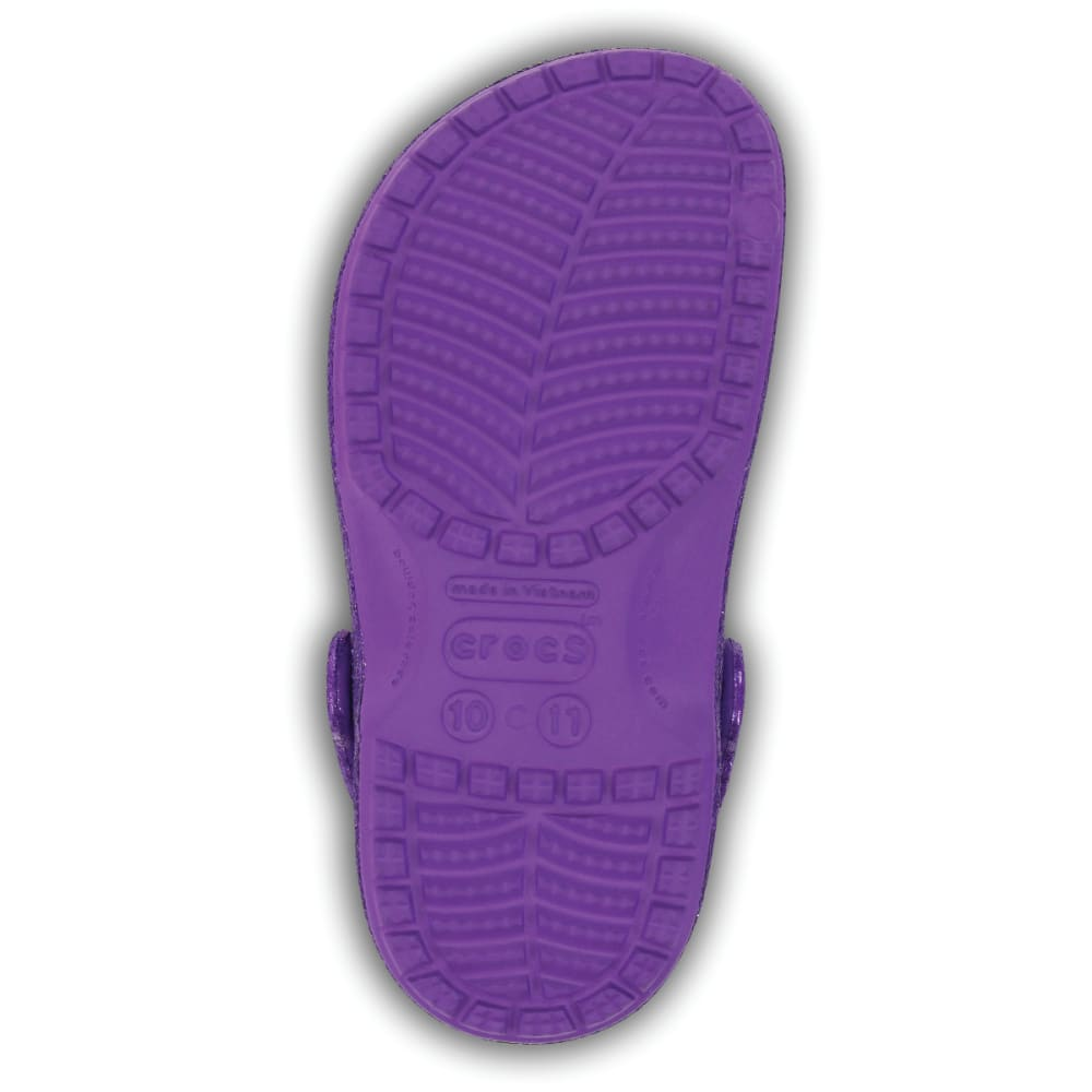 CROCS Girls' Baya Hi Glitter Clogs - PURPLE