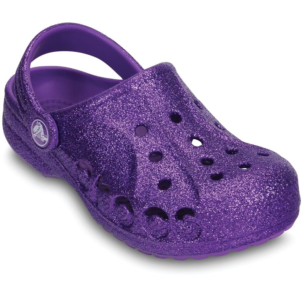 CROCS Girls' Baya Hi Glitter Clogs - PURPLE