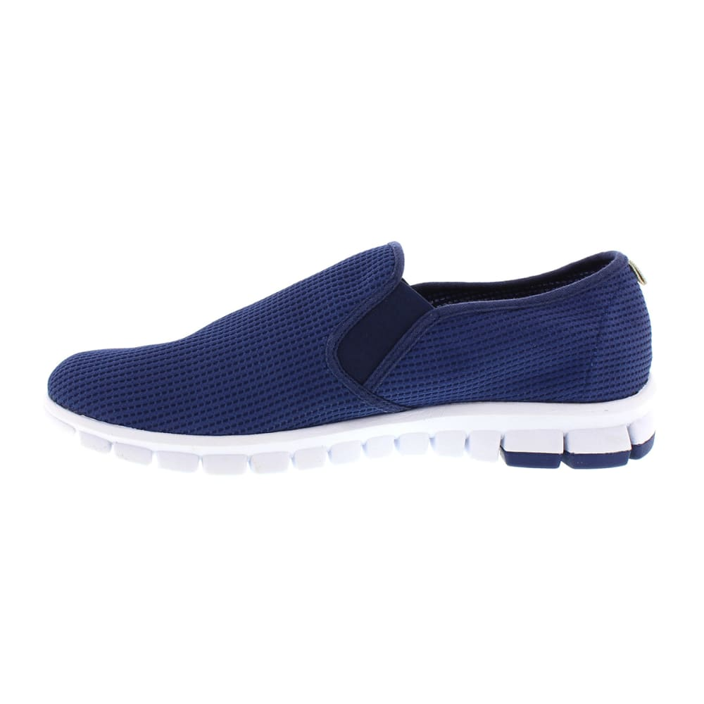 DEERSTAGS Men's NoSox Wino Slip-on Shoe - NAVY/WHITE