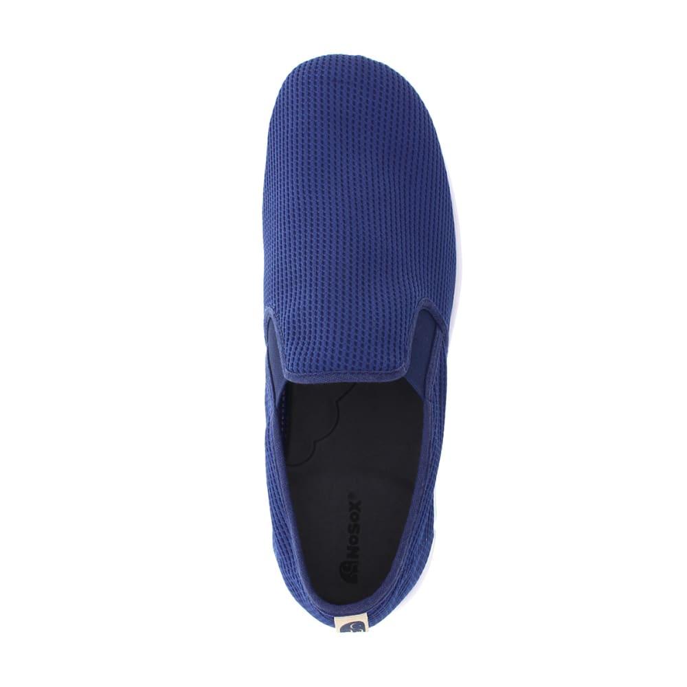 DEERSTAGS Men's NoSox Wino Slip-on Shoe - NAVY/WHITE