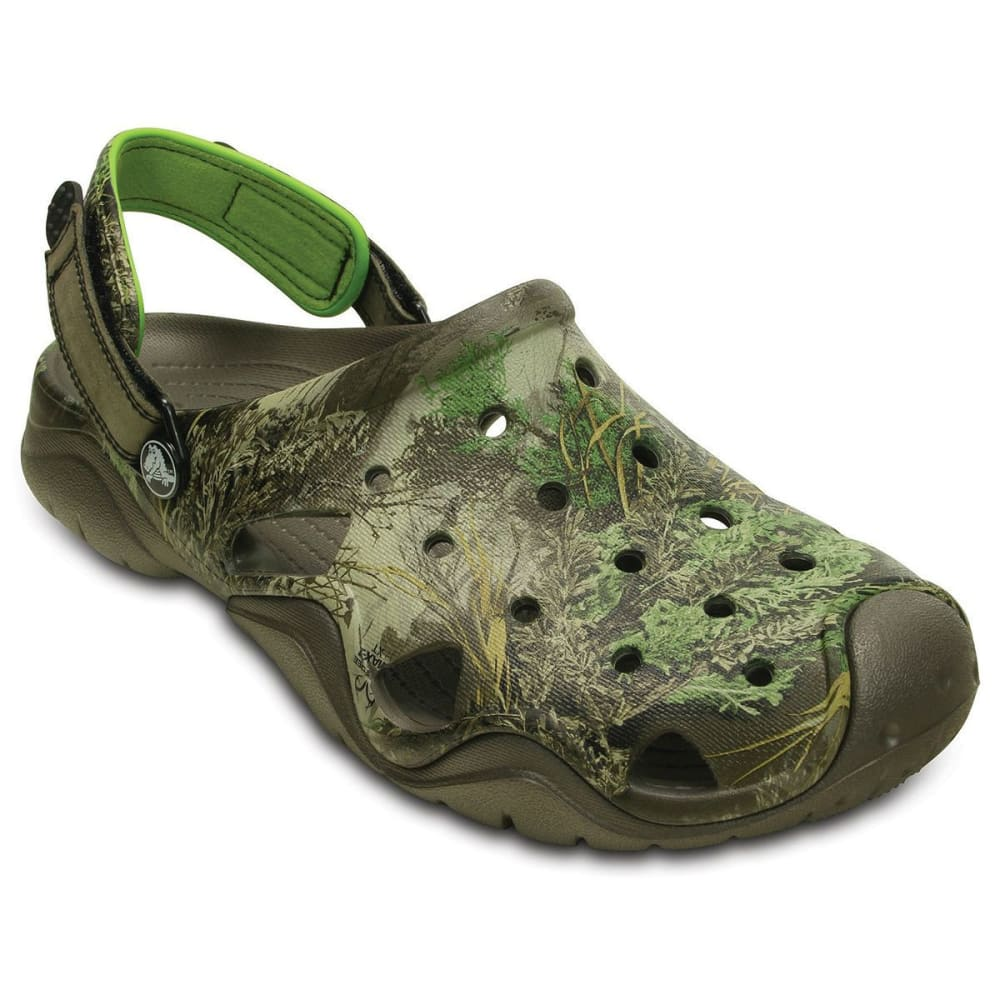 CROCS Men's Realtree Swiftwater Sandals - PEWTER