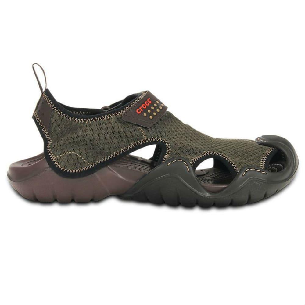 CROCS Men's Swiftwater Sandals - EXPRESSO