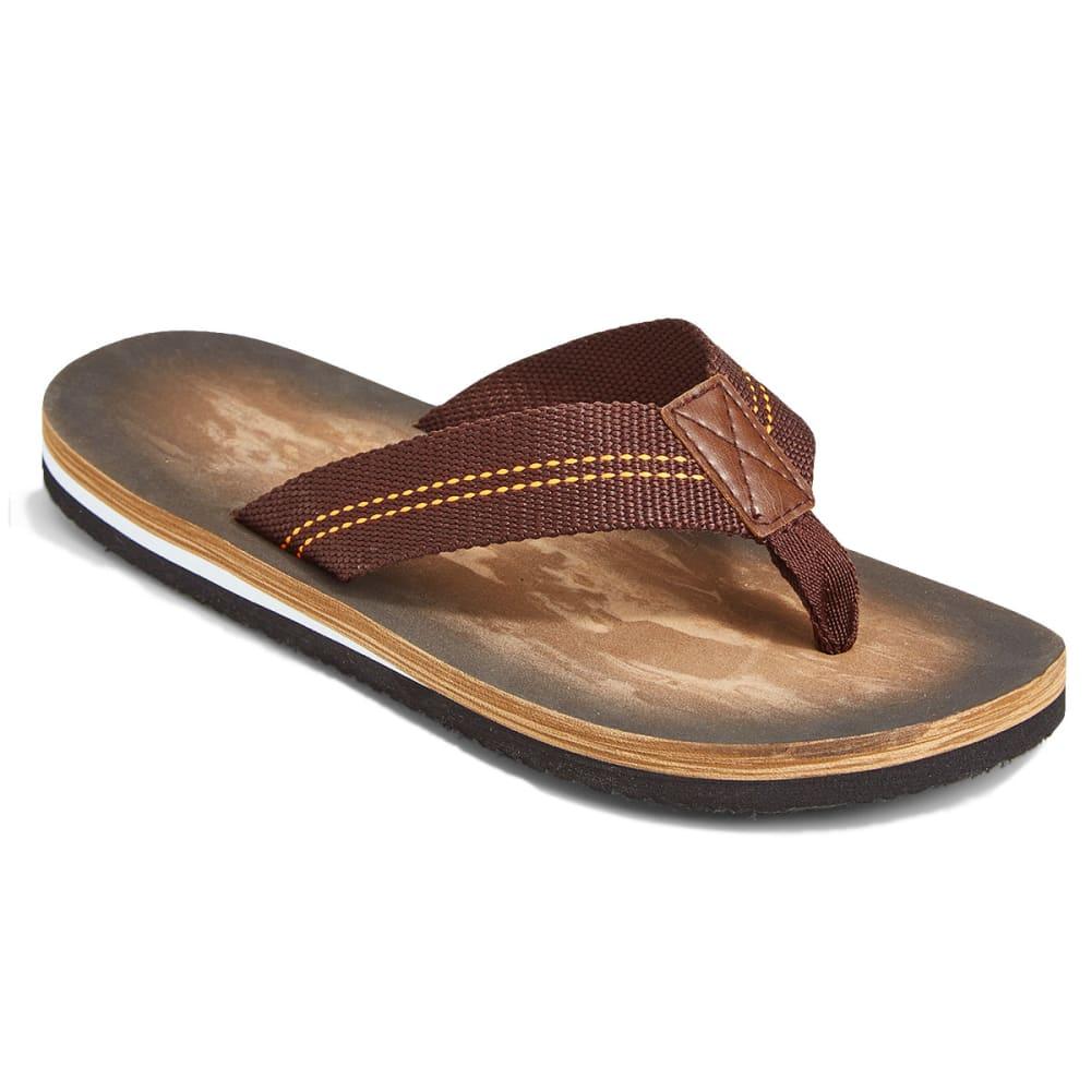 NORTHSIDE Men's Sereno Brown Flip Flops - BROWN