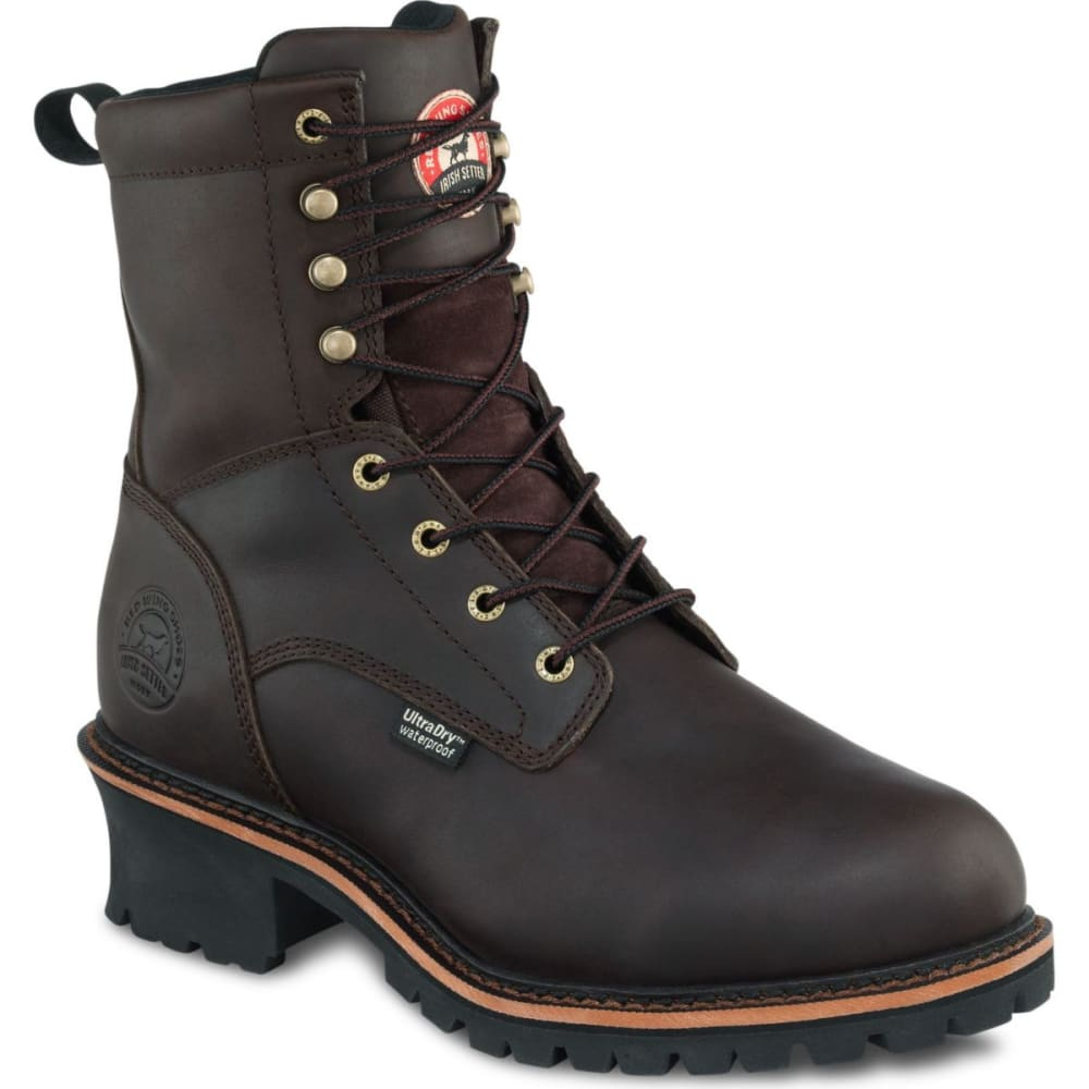 RED WING SHOES Men's 83809 8 in. Logger - BROWN
