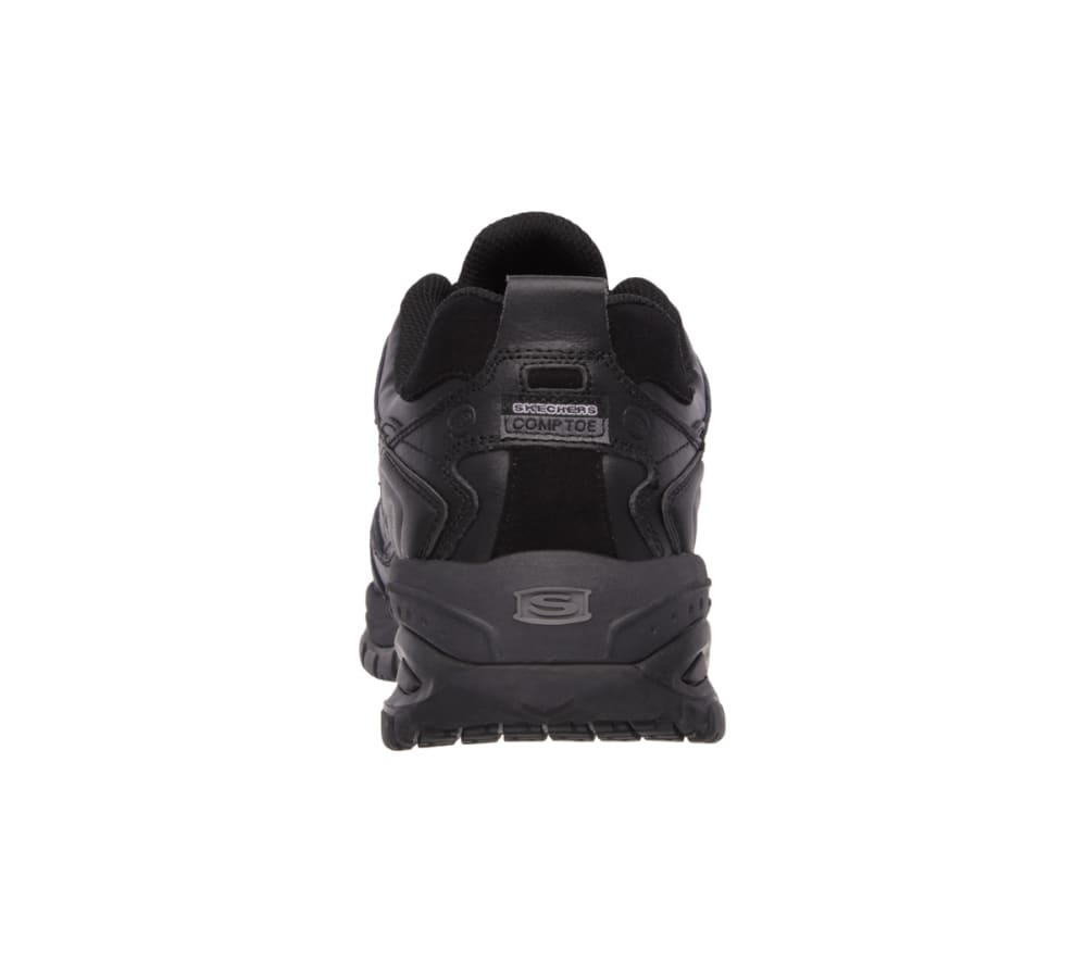 SKECHERS Men's Work Relaxed Fit: Soft Stride – Chatham Comp Toe - BLACK
