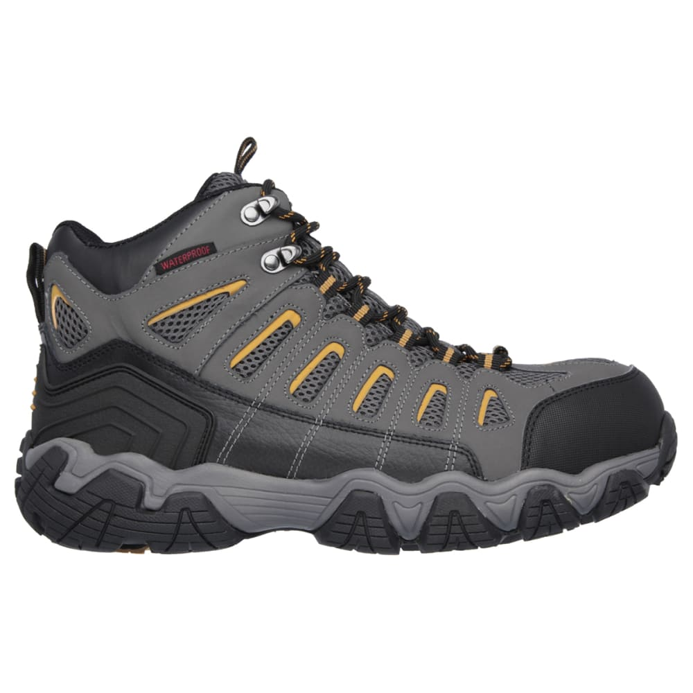 SKECHERS Men's Blais Bixford Steel Toe Work Shoes - DARK GREY