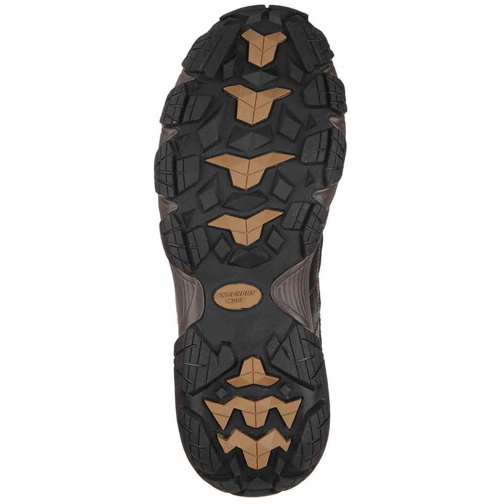 SKECHERS Men's Blais Bixford Steel Toe Work Shoes - DARK BROWN