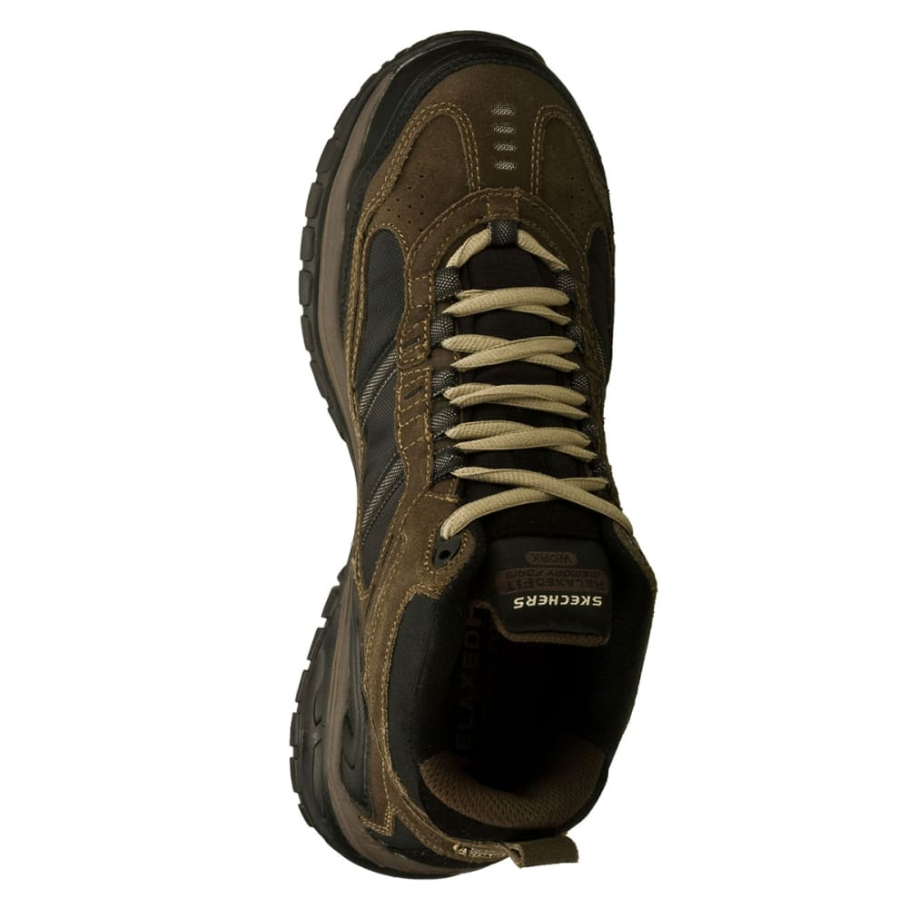 SKECHERS Men's Work Relaxed Fit: Soft Stride Canopy Comp Toe, Extra Wide - BROWN/BLACK