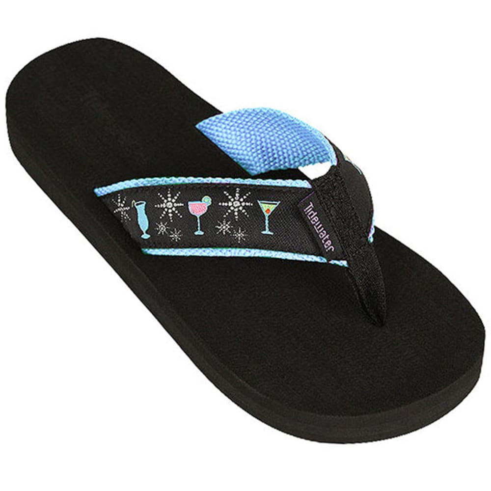 TIDEWATER Women's Glamour Cocktail Flip-Flops - BLUE