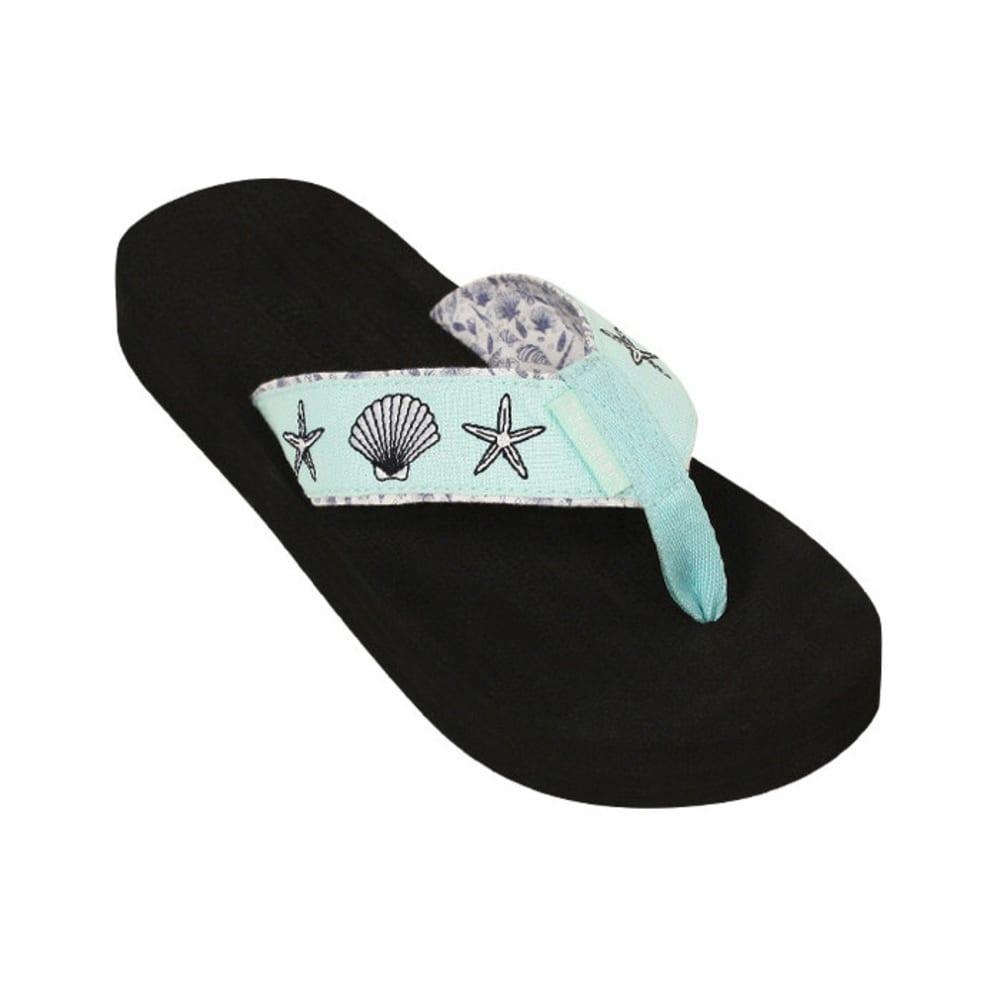 TIDEWATER Women's Mint Shells Flip-Flops - MINT