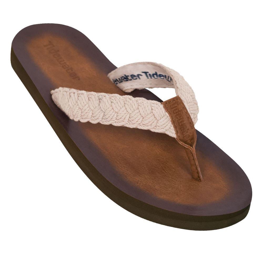 TIDEWATER Women's Tallulah Flip-Flops - CREAM