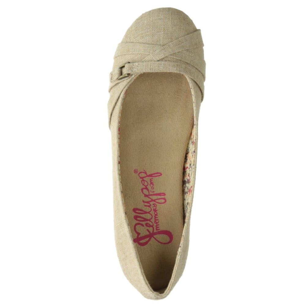 JELLYPOP SHOES Women's Spencer Ballet Flats - NATURAL