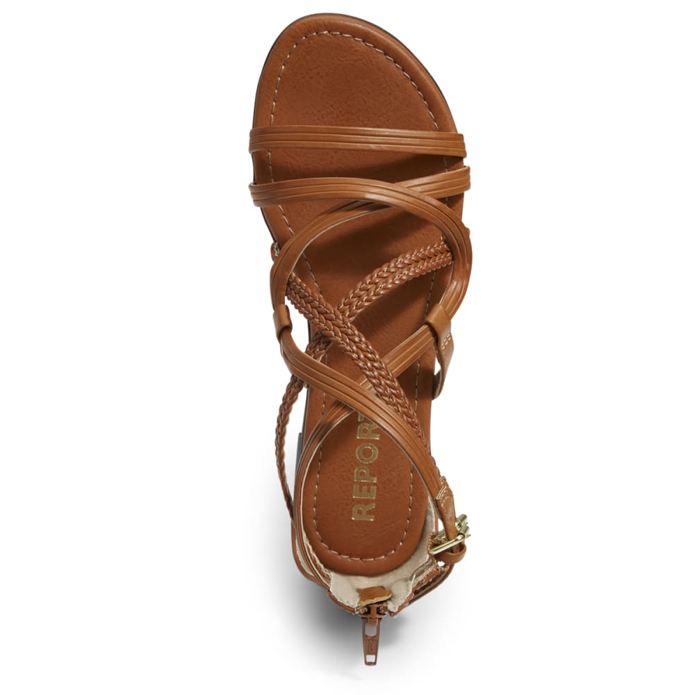 REPORT FOOTWEAR Women's Georgya Gladiator Sandals - COGNAC