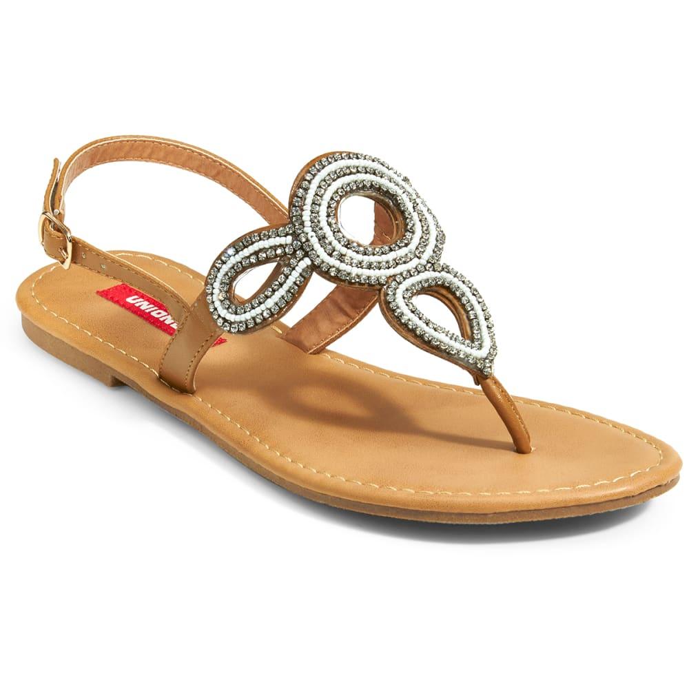 UNIONBAY Women's Allen Beaded Sandals - COGNAC