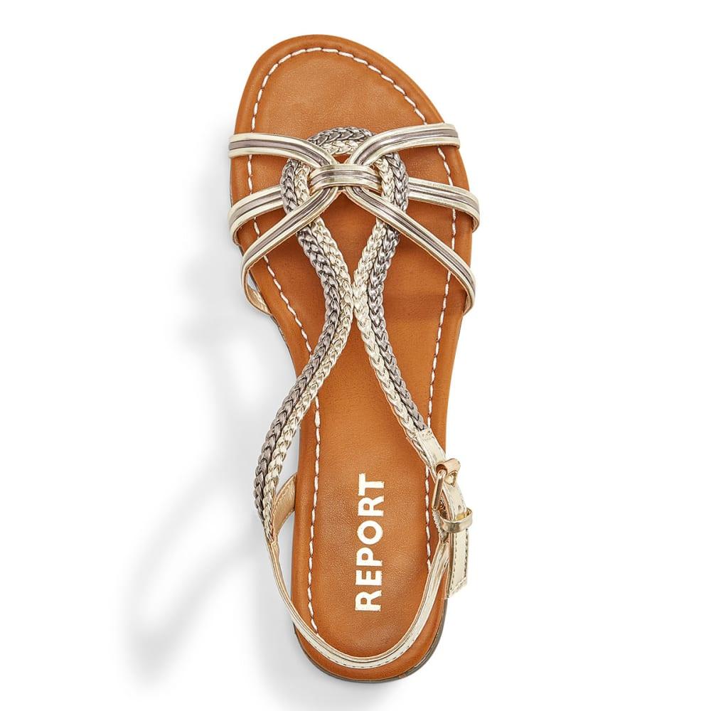 REPORT Women's Garam Woven Sandals - METALLIC SILVER