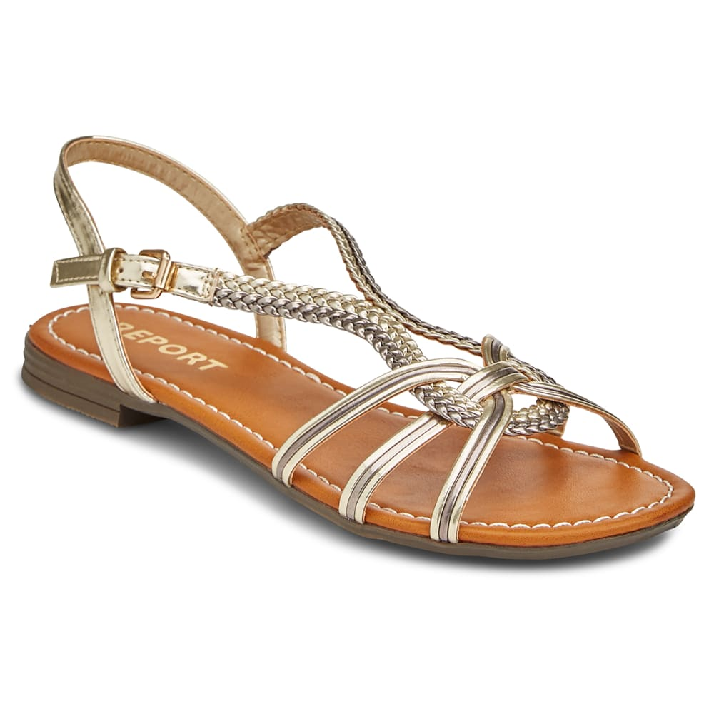 REPORT Women's Garam Woven Sandals - METALLIC SILVER
