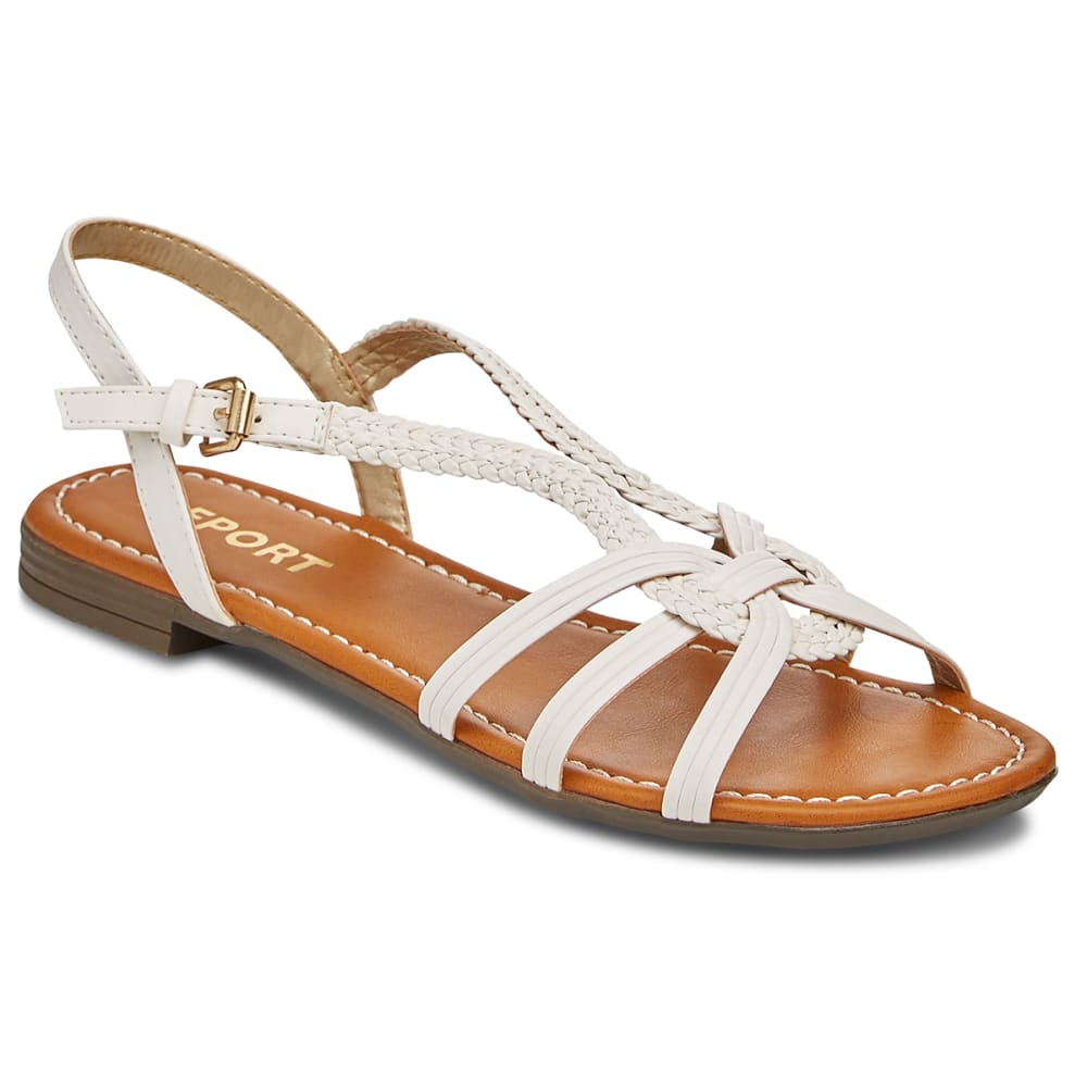 REPORT Women's Garam Woven Sandals - WHITE