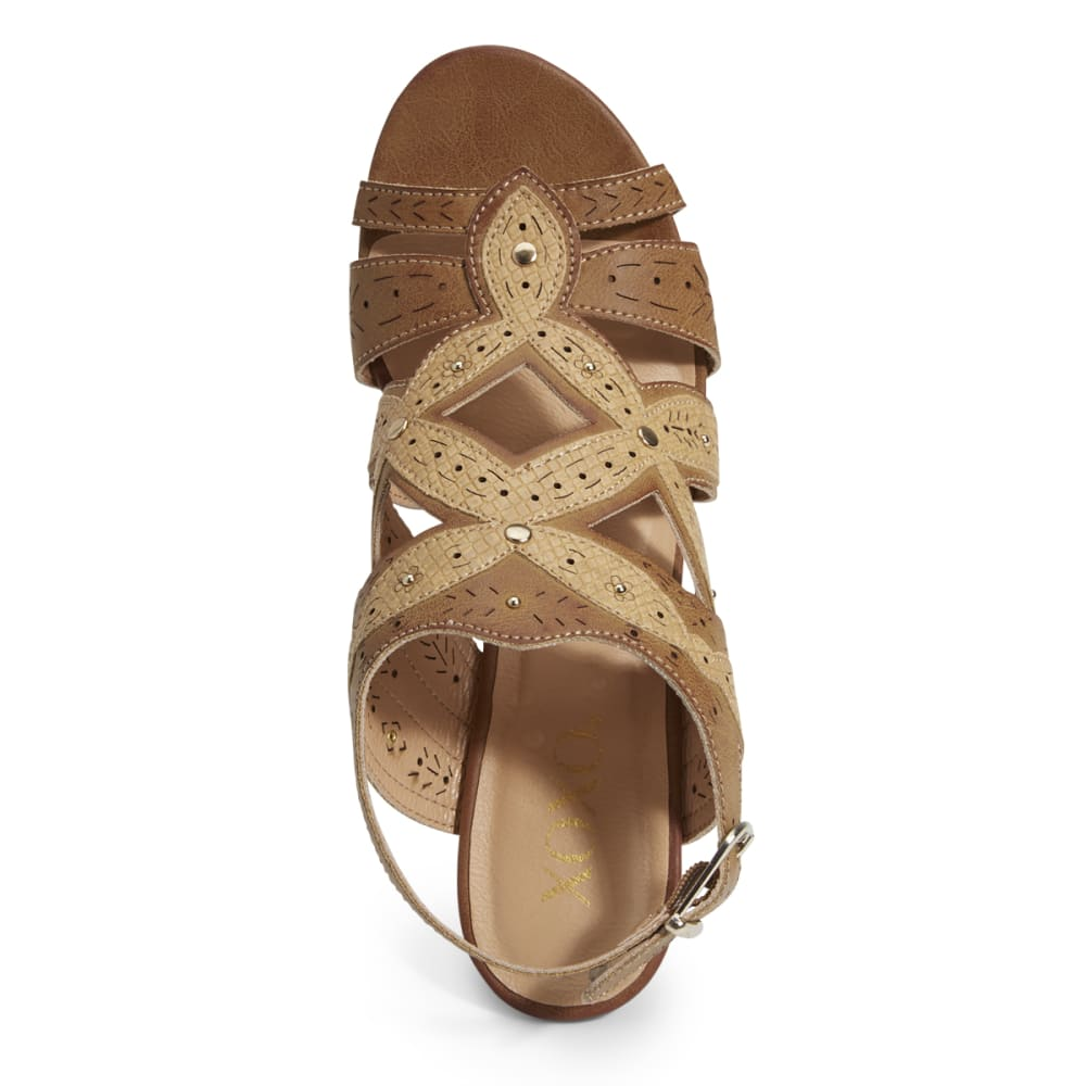 XOXO Women's Shani Wedge Sandals - TAN