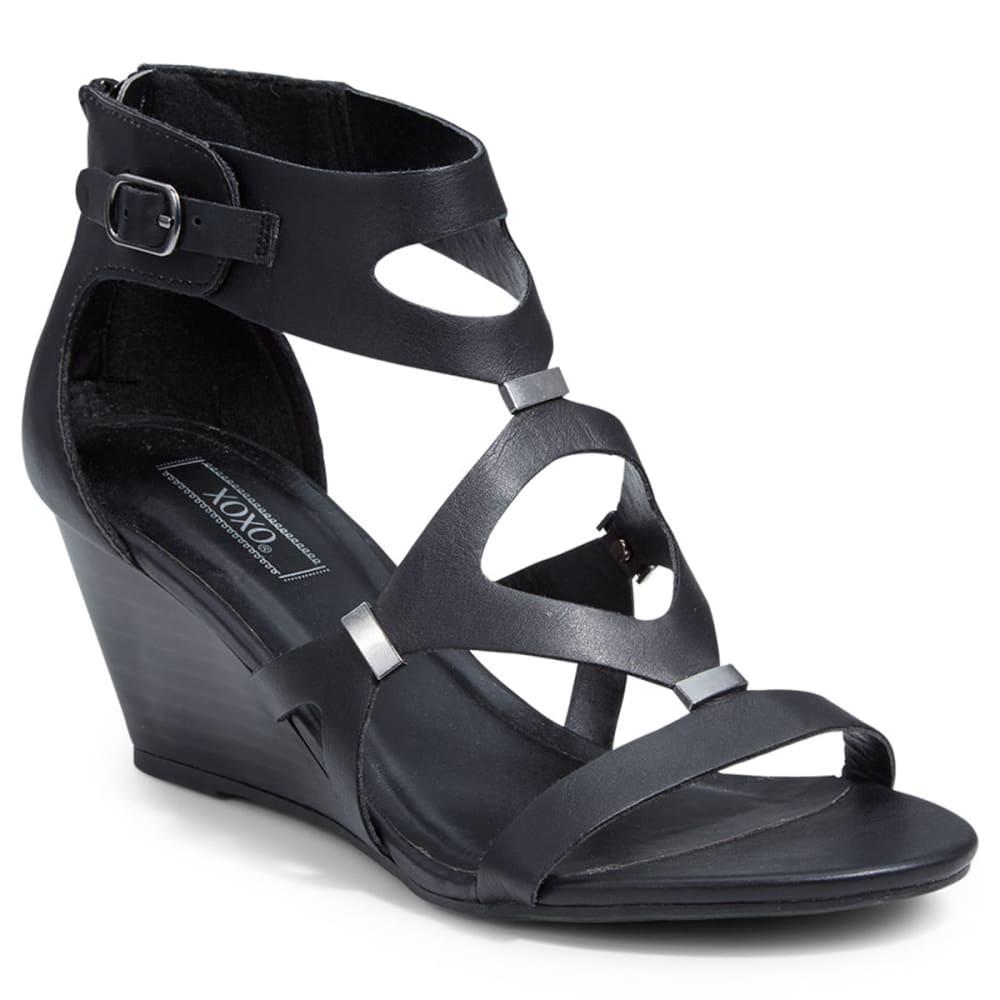 XOXO Women's Sees Wedge Sandals - BLACK