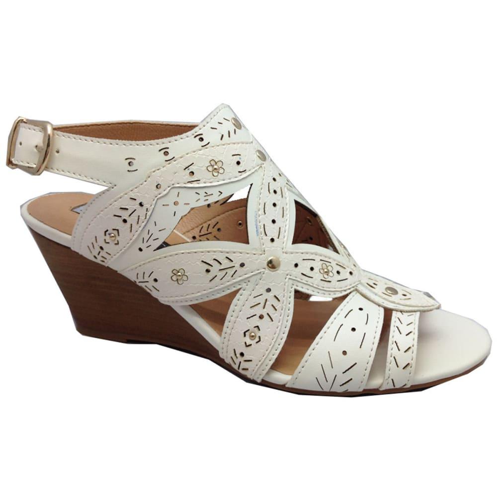 XOXO Women's Shani Wedge Sandals - WHITE