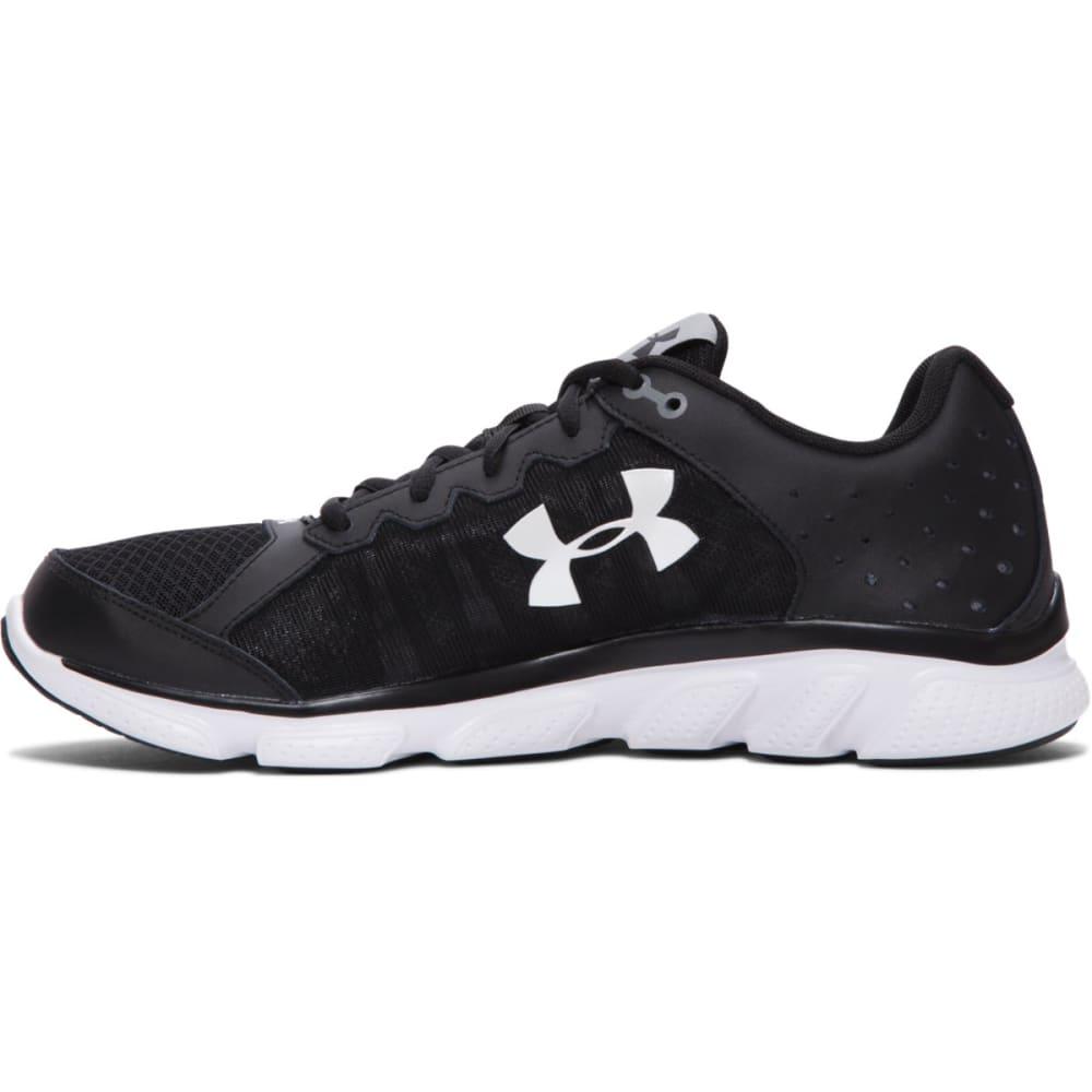 UNDER ARMOUR Men's Micro G Assert 6 Running Shoes, 2E Wide - BLACK