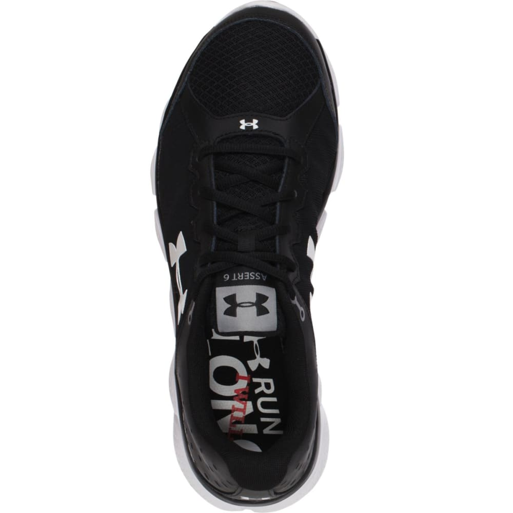 UNDER ARMOUR Men's Micro G Assert 6 Running Shoes, 2E Wide - BLACK