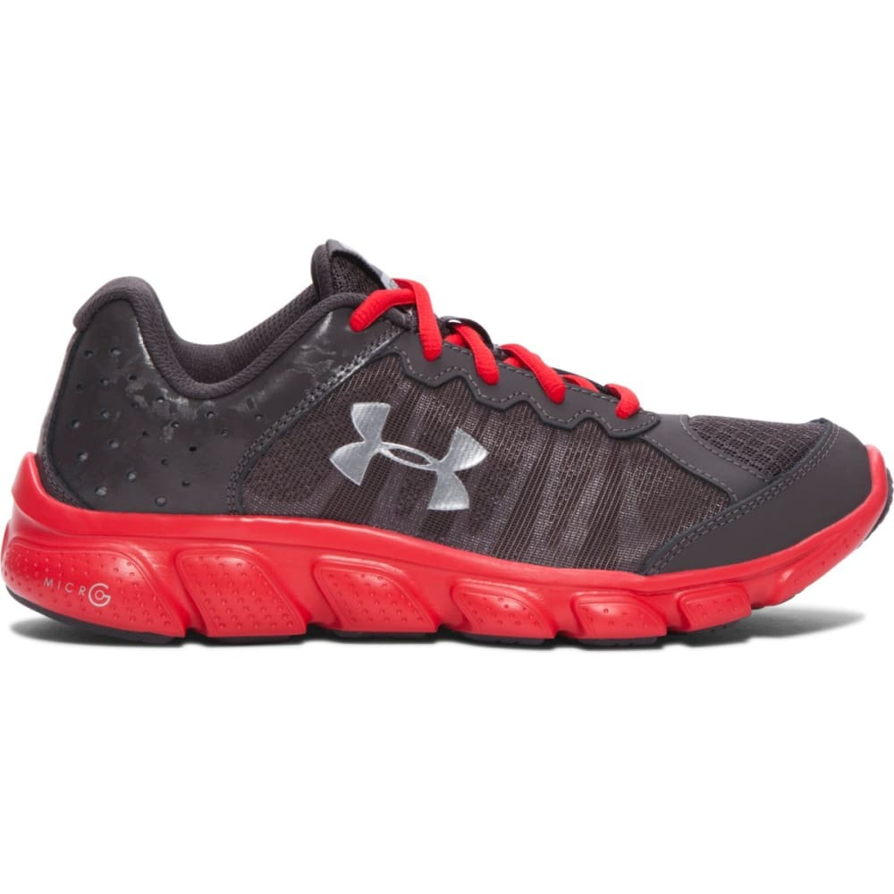 UNDER ARMOUR Boys' Grade School Micro G Assert 6 Shoes - CHAR/RED/SL