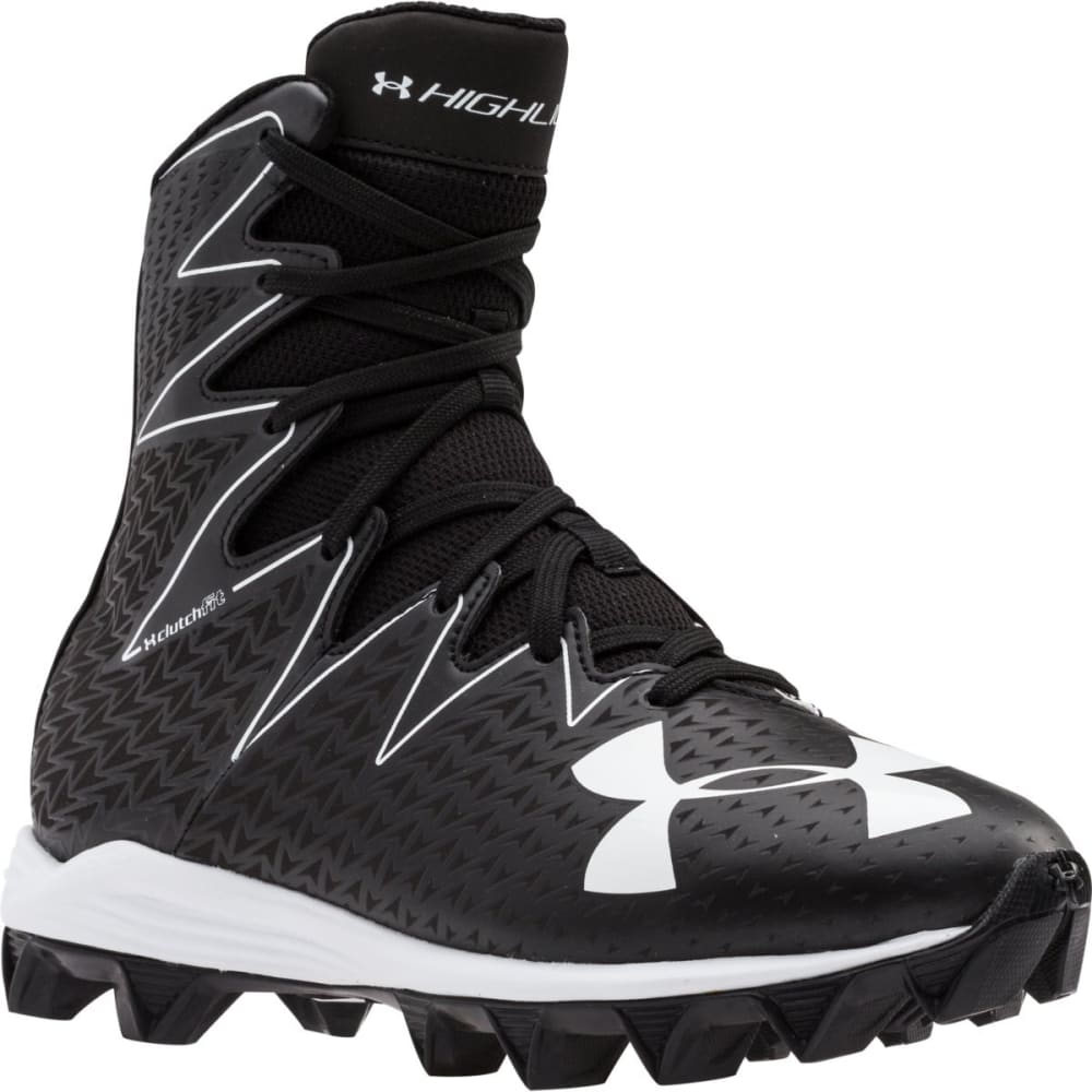 UNDER ARMOUR Kids' Highlight RM Jr. Football Cleats - BLACK