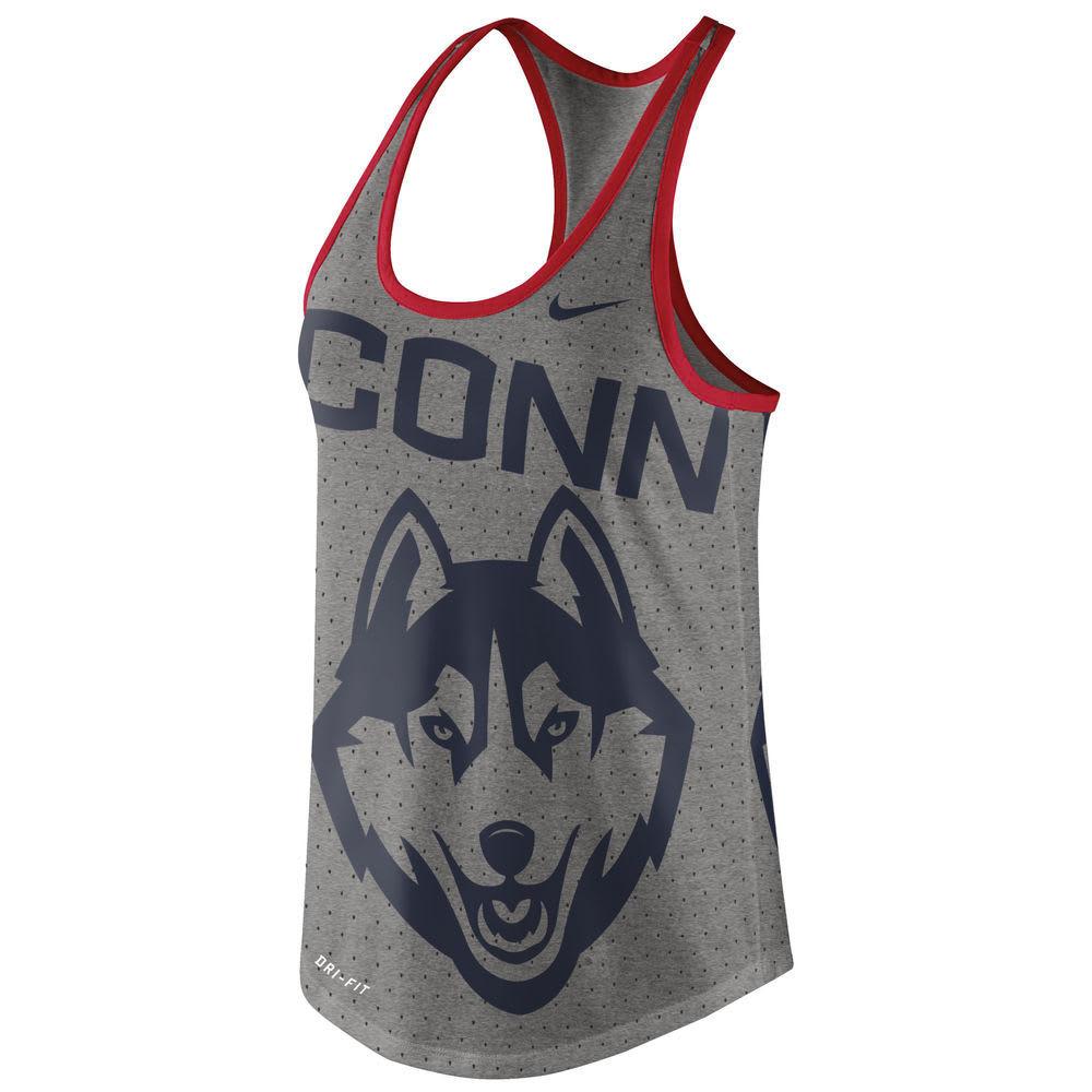 UCONN Women's Nike Dri-Blend Gear Up Tank - NAVY