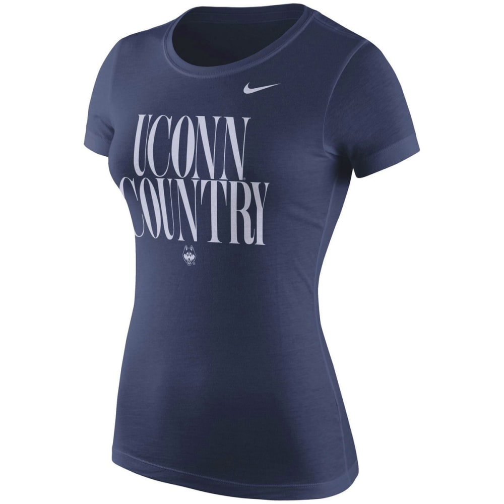 UCONN Women's Spirit Navy Short Sleeve Tee - NAVY
