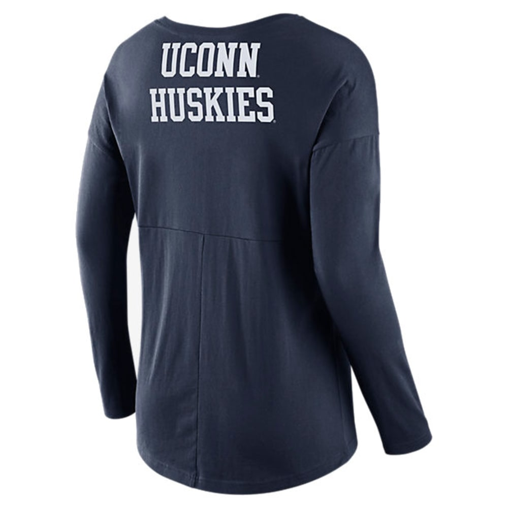 NIKE Women's UConn Tailgate Spirit Long-Sleeve Tee - NAVY